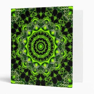 Spider Dance, Abstract Green Irish Vinyl Binder