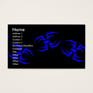 spider deck 03, Name, Address 1, Address 2, Con... Business Card