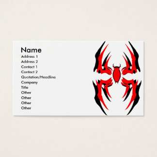 spider deck double 3, Name, Address 1, Address ... Business Card