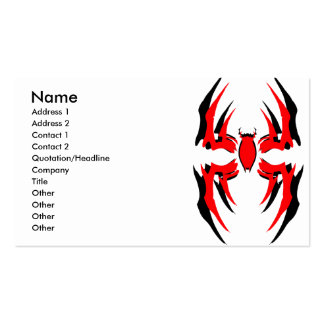 spider deck double 3, Name, Address 1, Address ... Double-Sided Standard Business Cards (Pack Of 100)