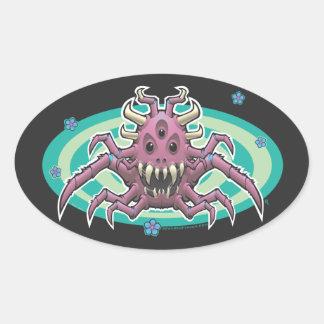Spider Demon Oval Sticker