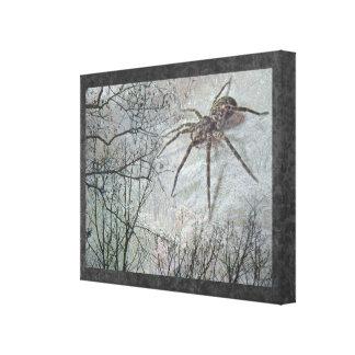 Spider Descending Canvas Print