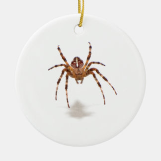 Spider Double-Sided Ceramic Round Christmas Ornament