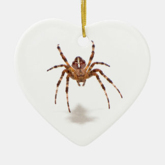 Spider Double-Sided Heart Ceramic Christmas Ornament