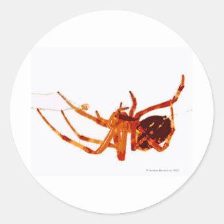 spider e classic round sticker