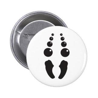 spider face costume pinback button