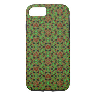 Spider Fangs Lime Green Bohemian iPhone 7 Case
