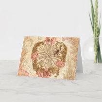 Spider Flower Wreath Holiday Card