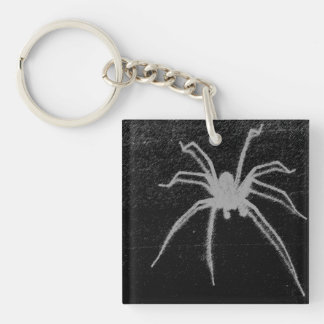 Spider Ghost Single-Sided Square Acrylic Keychain