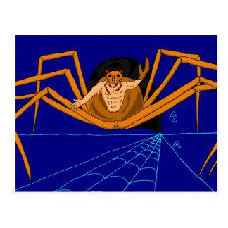 Spider-god Halloween Postcard