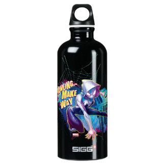 Spider-Gwen: Crawling… Make Way Aluminum Water Bottle