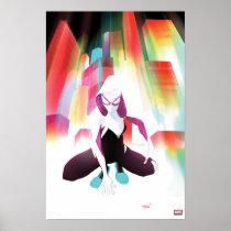 Spider-Gwen Neon City Poster