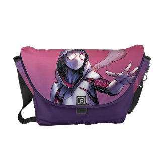 Spider-Gwen On Rooftop Courier Bag