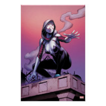 Spider-Gwen On Rooftop Poster