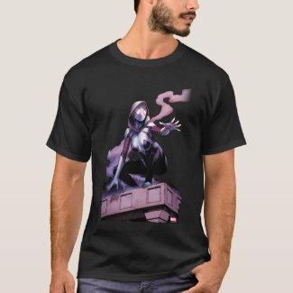Spider-Gwen On Rooftop T-Shirt