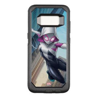 Spider-Gwen Web Slinging Through City OtterBox Commuter Samsung Galaxy S8 Case