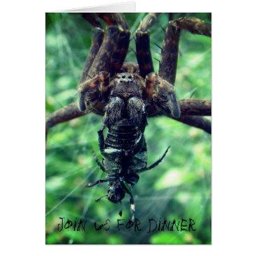Halloween Themed Spider Halloween Dinner Invitation