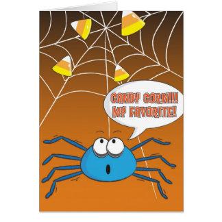 Spider Halloween Greeting Card