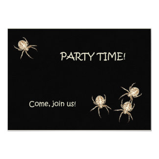 Spider Halloween Party Felt Invitation