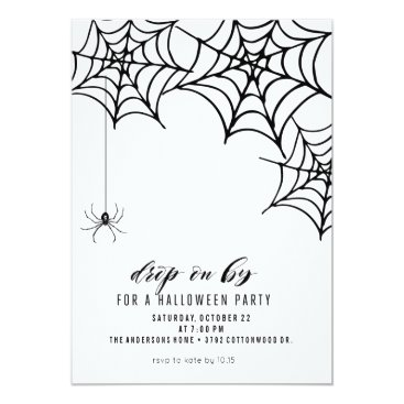 Halloween Themed SPIDER HALLOWEEN PARTY INVITATION