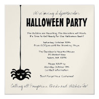 Spider Halloween Party Invitation - Square