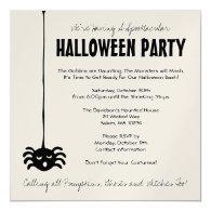 Spider Halloween Party Invitation - Square