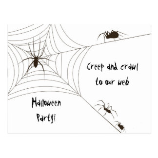 Spider Halloween Party Postcard