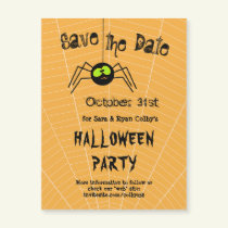 Spider Halloween Party Save the Date Magnetic Card