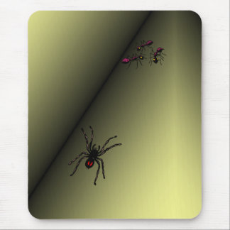Spider Has Ants Trapped in Corner. ~ Insects Bugs Mouse Pad
