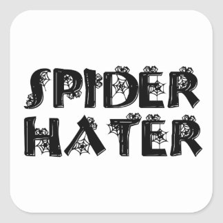 Spider Hater Square Stickers