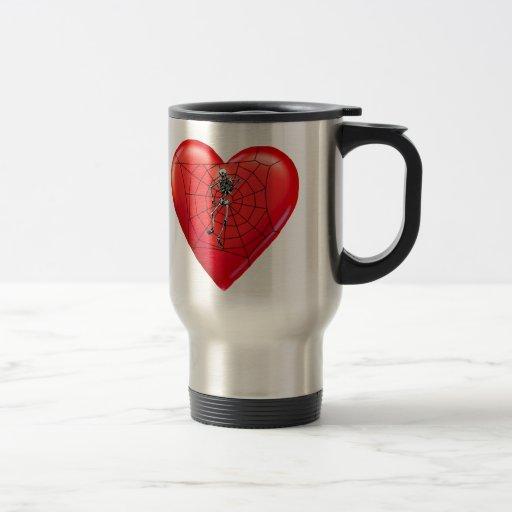 Spider Heart 15 Oz Stainless Steel Travel Mug