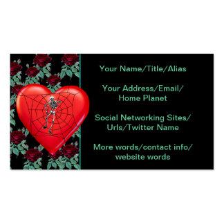 Spider Heart Business Card