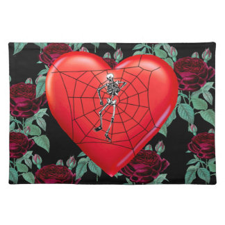 Spider Heart Cloth Placemat