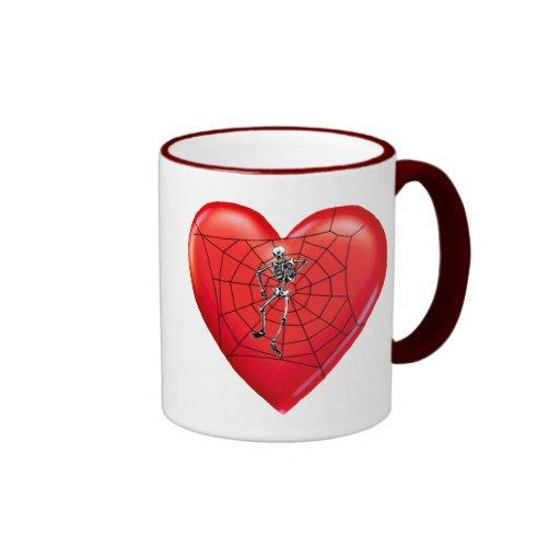 Spider Heart Coffee Mugs