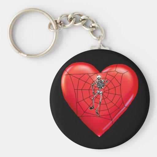 Spider Heart Key Chain