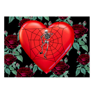 Spider Heart Large Business Card