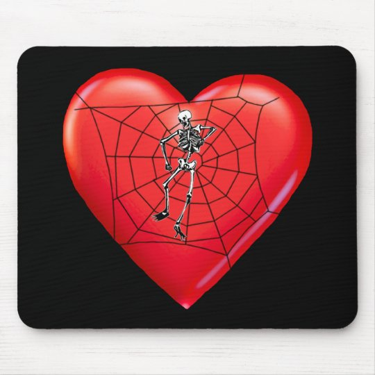 Spider Heart Mouse Pad