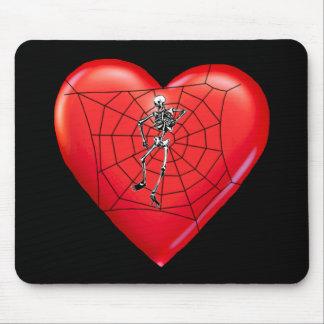 Spider Heart Mouse Mats