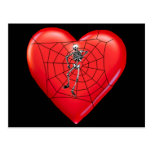 Spider Heart Post Cards