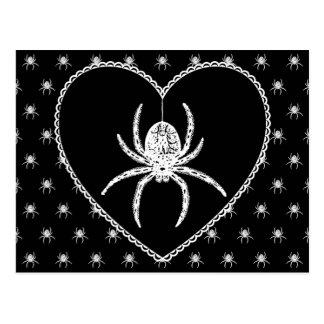 Spider Heart Postcard