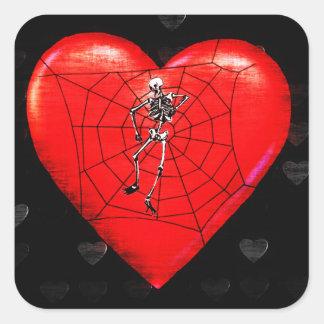 Spider Heart Stickers