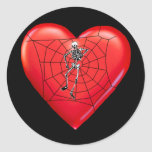 Spider Heart Sticker