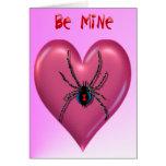 Spider Heart Valentine Card
