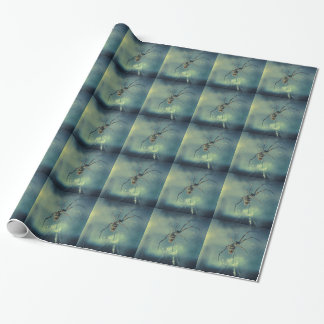 Spider in a Cobweb Wrapping Paper