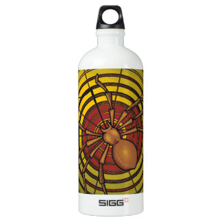 Spider in a Web Aluminum Water Bottle