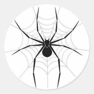Spider in a Web Classic Round Sticker