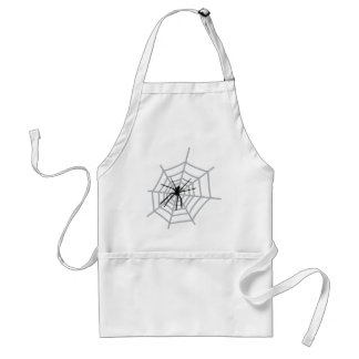 spider in cobweb adult apron