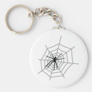 spider in cobweb keychain