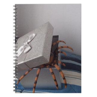 Spider in gift box notebook