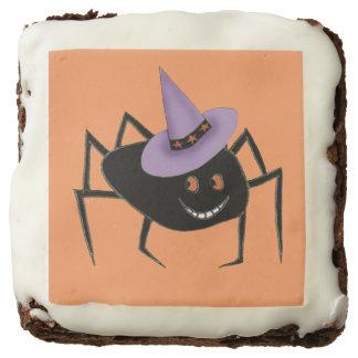 Spider in Hat Brownies Square Brownie